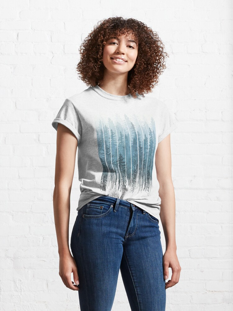 Alternate view of Grunge Dripping Turquoise Misty Forest Classic T-Shirt
