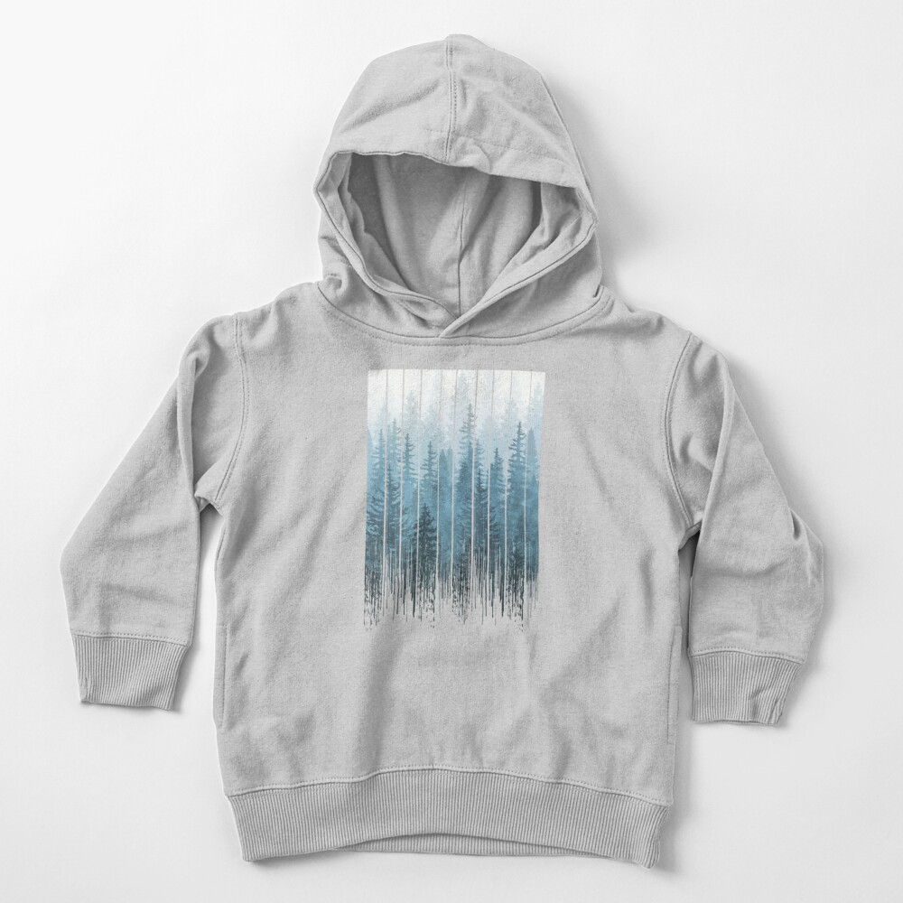 Grunge Dripping Turquoise Misty Forest Toddler Pullover Hoodie