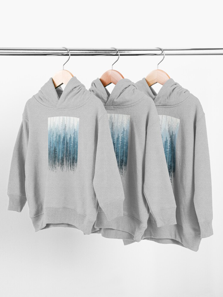 Alternate view of Grunge Dripping Turquoise Misty Forest Toddler Pullover Hoodie