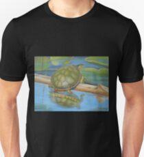 Turtle on a Log  T-Shirt