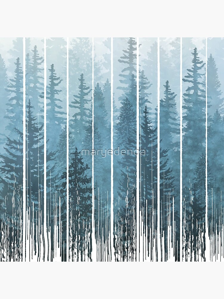 Grunge Dripping Turquoise Misty Forest by maryedenoa