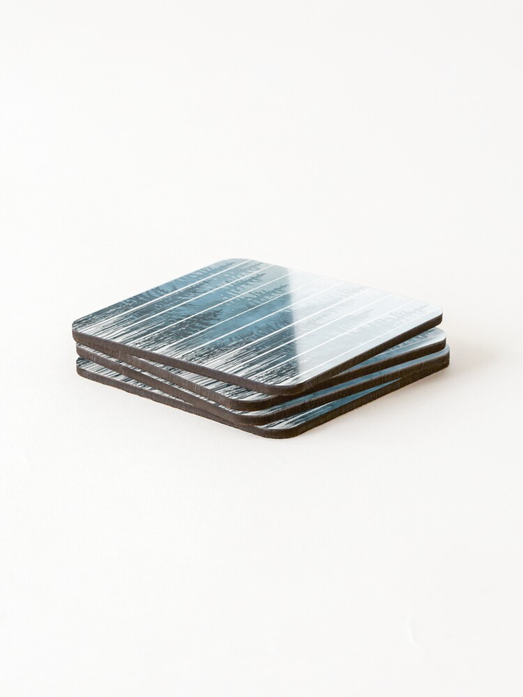 Alternate view of Grunge Dripping Turquoise Misty Forest Coasters (Set of 4)