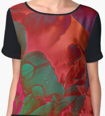Psychedelic Paeonia Chiffon Top