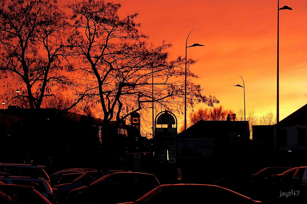 Sunset over the Peel Centre by jayt47