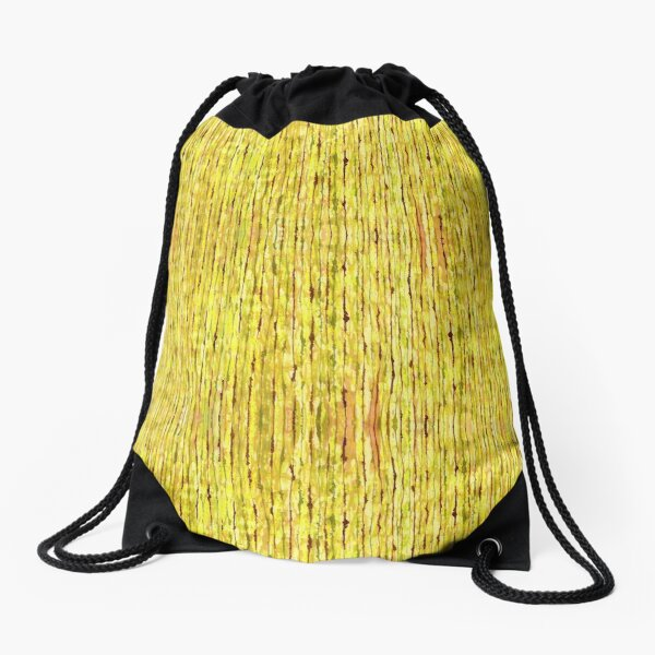 Fresh Tiki Stripe Watercolor Drawstring Bag