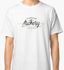 Traditionelles Bogenschießen Stick & String (weiß) Classic T-Shirt