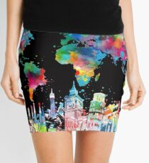 world map Mini Skirt