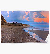 Tranquility. A section in Bacara Beach in Santa Barbara California Poster
