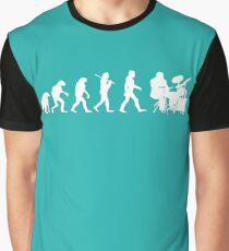 Funny Drummer Evolution T-Shirt - Awesome Band Tee Graphic T-Shirt