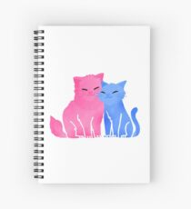 random - candyfloss kitties Spiral Notebook