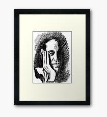Pondering Man Framed Print