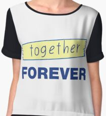 Romantic hand drawn lettering Forever together Chiffon Top