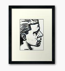 Profile of Man Framed Print