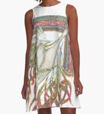 Wilde Gans A-Linien Kleid