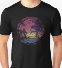 Spiral Grunge Sunset Beach Unisex T-Shirt