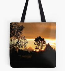 Sunset At Pukerau - Southland New Zealand Tote Bag