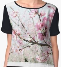 Peach Blossoms 17 Chiffon Top