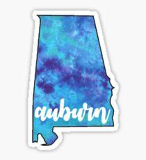 Auburn, AL state outline Sticker