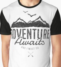 ADVENTURE AWAITS Graphic T-Shirt