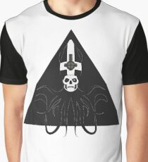 Ghost Squid Pyramid (black) Graphic T-Shirt