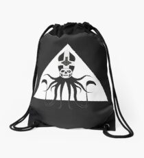 Ghost Squid Pyramid (white) Drawstring Bag