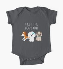 I Let The Dogs Out One Piece - Short Sleeve