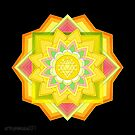 Solar Plexus Chakra Mandala - Manipura  by mimulux