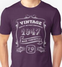 Vintage 1947 - 70th Birthday Gift Idea T-Shirt