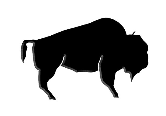 """Black Buffalo Bison Outline"" Poster by Statepallets ..."