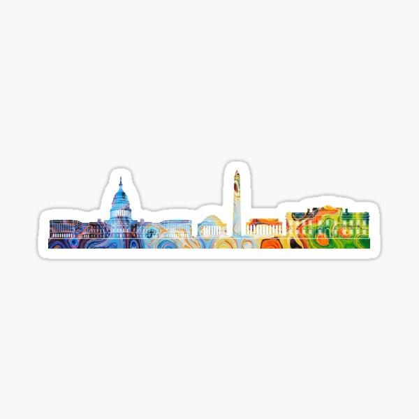 Colored DC Skyline Sticker