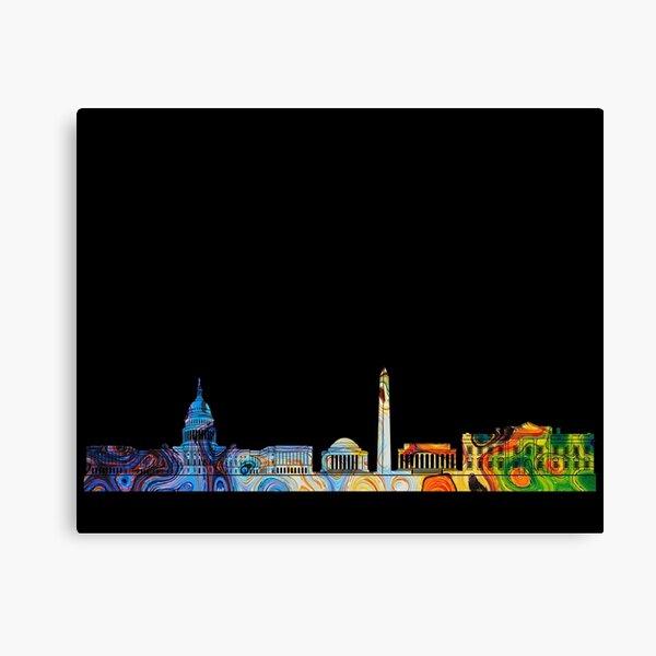 Colored DC Skyline Canvas Print