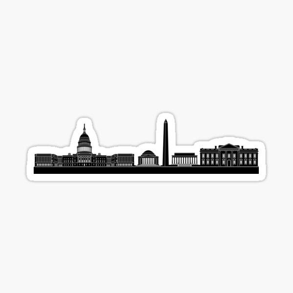 Black DC Skyline Sticker