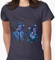 Collage La La Land (Ryan Gosling and Emma Stone) - Damien Chazelle Womens Fitted T-Shirt