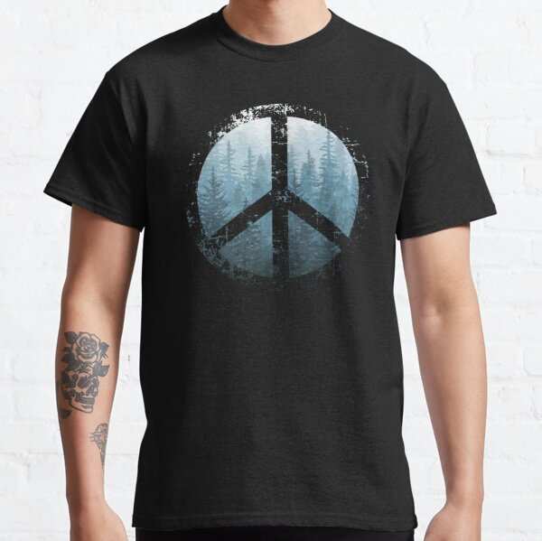 Peaceful Misty Forest Classic T-Shirt