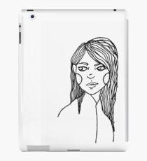 black and white cute girl iPad Case/Skin