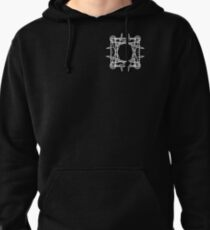Four Mason pattern Pullover Hoodie