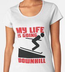 My life is going downhill: Skiing Women's Premium T-Shirt