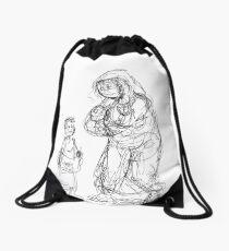 Jesus at the Temple Drawstring Bag