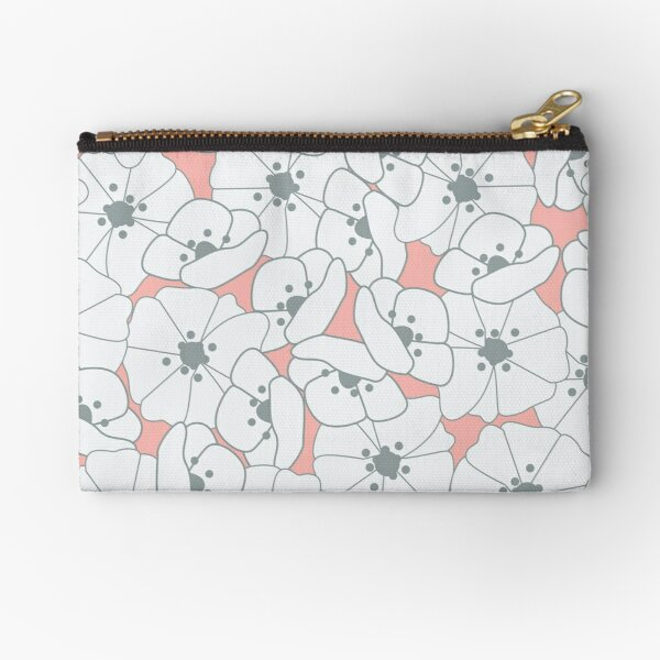 Seamless pattern with flowers and floral elements, nature life Zipper Pouch