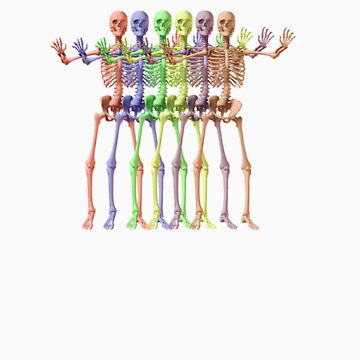 Rainbow Skeletons by xerotolerance