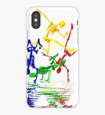 Skeletons break-dancing iPhone Case/Skin