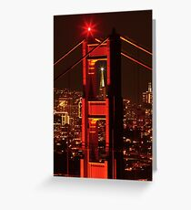San Francisco Christmas  Greeting Card