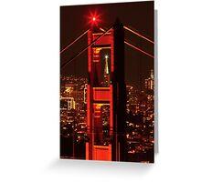 San Francisco Christmas  Greeting Card