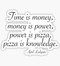 Pizza is Knowledge Sticker