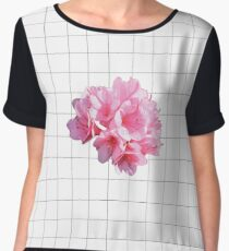 grid flower Chiffon Top