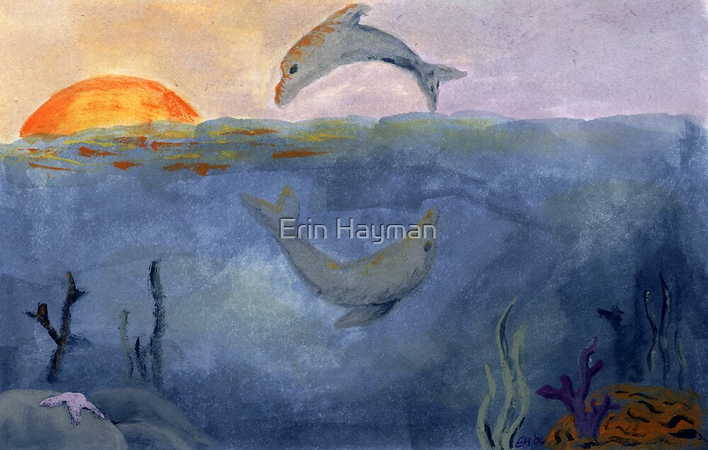 Dolphins at Play by Erin Hayman