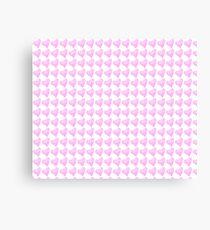 Light Pink Watercolor Heart Pattern  Canvas Print