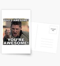 You're awesome! Postcards