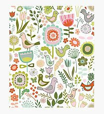 Birds & Blooms - Springtime Photographic Print