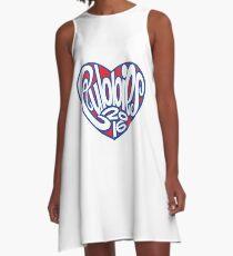 Cubbies Heart Chicago 2016 A-Line Dress
